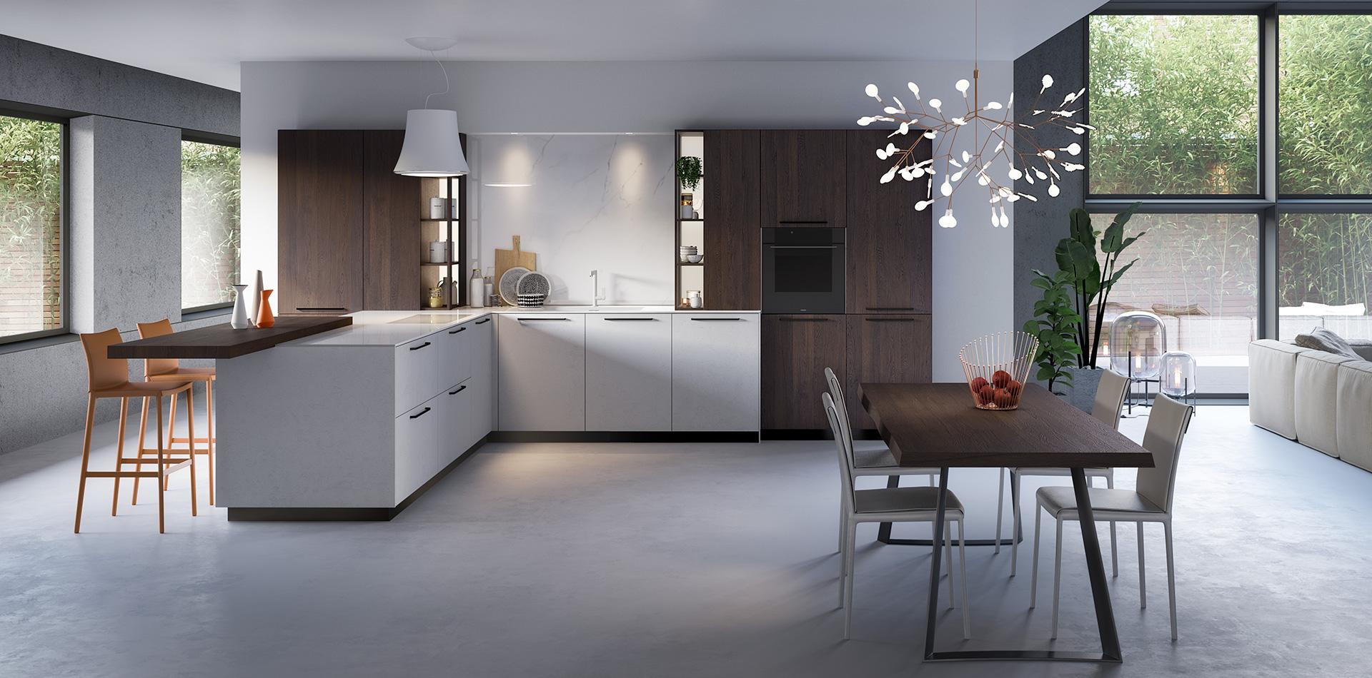 Küchen in g-form - Vettoretti